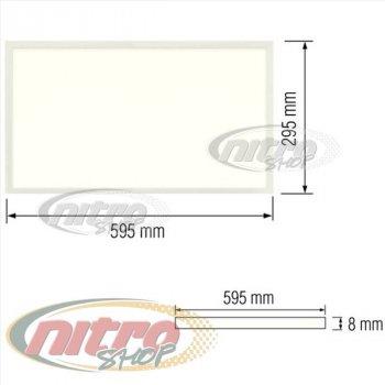 Світильник стельовий світлодіодний LED-панель Horoz Electric ZODIAC-24 24Вт 220В 6400K (056-006-0024)