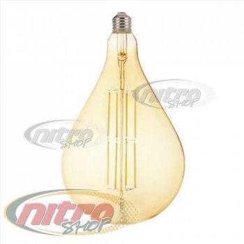 Лампа филаментная світлодіодна Horoz Electric TOLEDO AMBER 8Вт (~64Вт) Е27 Filament (001-049-0008) (001-049-0008)