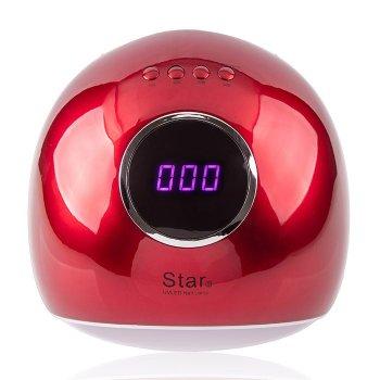 Лампа для маникюра STAR 5 LED+UV (красная), 72 Вт