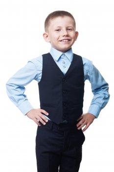 Жилет KidsCouture Полівіскоза Синій (717116006)