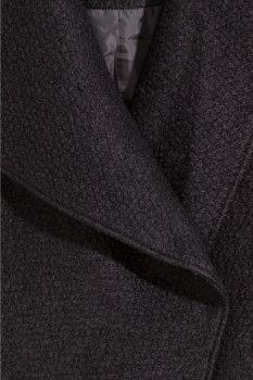 Пальто H&M 060300908 Черное