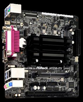 Материнська плата ASRock J4125B-ITX (Intel Celeron J4125, SoC, PCI-Ex16)