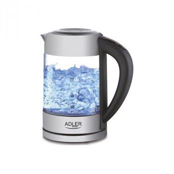 Чайник электрический стеклянный Adler AD 1247 New 1.7