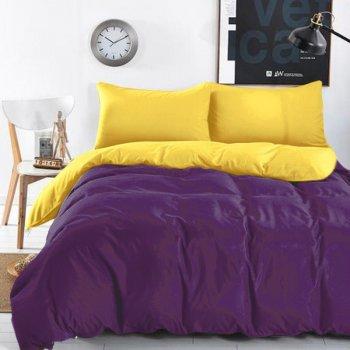 Комплект постельного белья Domikus Микрофибра двухсторонний Acai/Sunny 200х220 (Acai/Sunny -39010) (4829900026691)