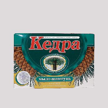 Мыло-шампунь Кедра медовое с отварами таёжных трав