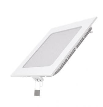 Вбудований світильник Гаусса ультратонкий квадратний IP20 9W,145х145х22, Ø130х130, 2700K 610лм 1/20