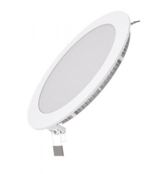 Вбудований світильник Гаусса ультратонкий круглий IP20 15W ,170х22, Ø155, 2700K 990лм 1/20