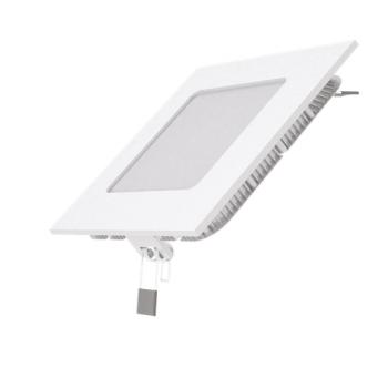 Вбудований світильник Гаусса ультратонкий квадратний IP20 6W,120х120х22, Ø105х105, 4100K 400лм 1/20