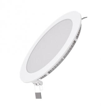 Вбудований світильник Гаусса ультратонкий круглий IP20 15W,170х22, Ø155, 4100K 1100лм 1/20
