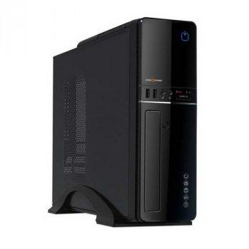 Корпус Logicpower S607 BK 400W Slim, 8см, 2хUSB2.0, Cardreader, Black