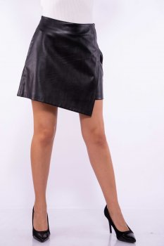 Жіноча спідниця з екошкіри Time of Style 176P003 Чорний