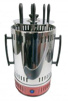 Электрошашлычница для будинку вертикальна 1000W Domotec BBQ (MS-7783) Червона