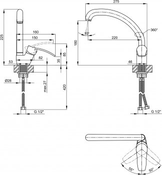 Змішувач кухонний LIDZ (WHI)-20 38 008 03