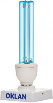 Кварцова-бактерицидна безозонова лампа Oklan OBK-25