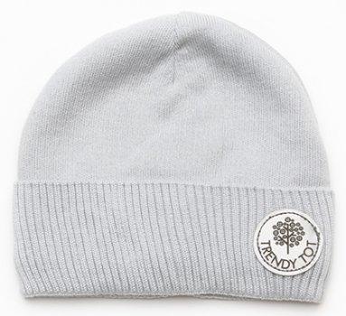 Демисезонная шапка Модный карапуз 03-01033 46-48 см Светло-серая (4824684710330)