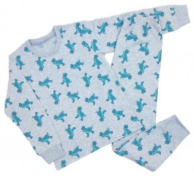 Пижама (футболка с длинными рукавами + штаны) Кена 207143-Н-08 Серая