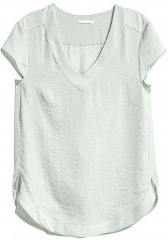 Блузка H&M 611-3895424 Светло-серая