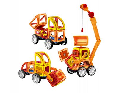 Магнитный конструктор Limo Toy Строительная техника 87 деталей LT6001