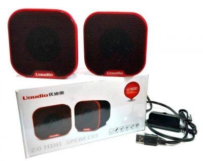 Компьютерные колонки акустика Uoudio U-500 с питанием от USB порта Чёрные (2140)