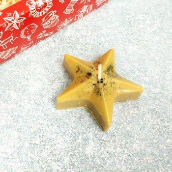 Свічка декоративна з маслами зірка 10112002