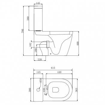 Унитаз-компакт DEVIT Universal безободковый с сиденьем Soft Close Quick-Fix дюропласт 3010162