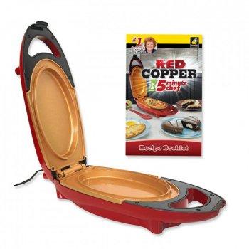 Электросковорода Copper Red 5 minuts SuperChef PLUS електрична плита