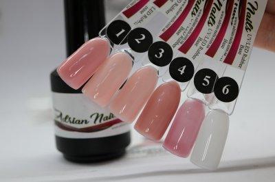 Каучуковая молочная база - Rubber Base Milk Adrian Nails №6 - 15мл
