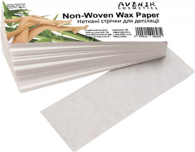 Неткані смужки для депіляції Avenir Cosmetics Non-Woven Wax Paper 100 шт. (2009610006974)