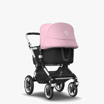 Коляска Bugaboo Fox 2, Alu, Black, колір Soft pink