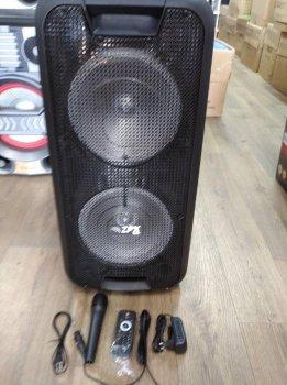 Професійна акумуляторна акустична система ZPX зі світломузикою і бездротовим мікрофоном (ZX-7775)