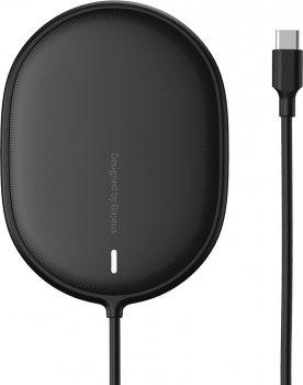 Бездротовий ЗП Baseus Light Magnetic Wireless Charger Black (WXQJ-01)