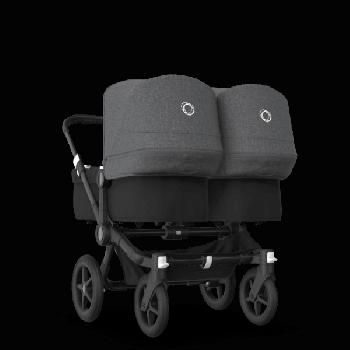 Bugaboo Коляска для двійні Donkey 3 Twin 2020, Black, Black, Grey melange колір