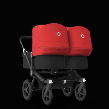 Bugaboo Коляска для двійні Donkey 3 Twin 2020, Black, Black, Red колір
