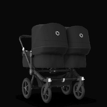 Bugaboo Коляска для двійні Donkey 3 Twin 2020, Black, Black, Black колір