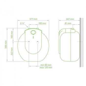 Водонагрівач Tesy Compact Line 10 л, 1,5 кВт GCU 1015 L52 RC