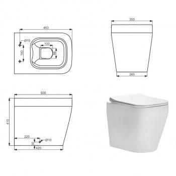 Унітаз підлоговий DEVIT Optima безободковый з сидінням Soft Close Quick-Fix дюропластів (3230130)