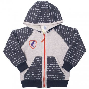 Детская кофта для мальчика KR-07-18 Гонки Габби Темно-синий с серым