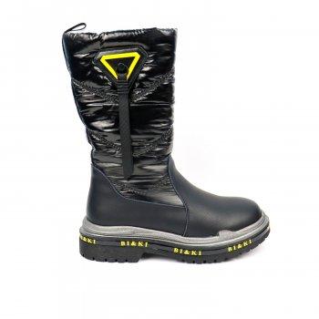 Шкіряні чоботи для дівчинки Bi&Ki (0761A)
