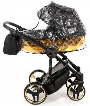 Універсальна коляска 2 в 1 Junama Mirror 02 Blysk чорна із золотим (J-MB-02)