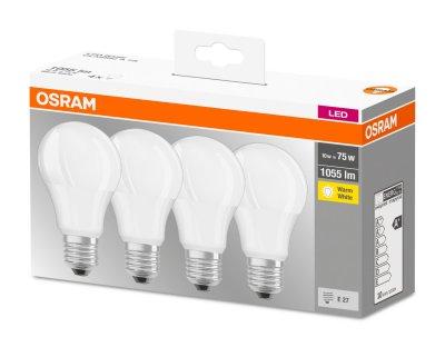 Набір світлодіодних ламп OSRAM BASE A60 10W 2700 K E27 4 шт. (4058075184992)