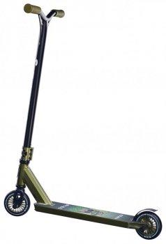 Трюковий Самокат Maraton RAPID трюкової колеса метал хакі металік для фрістайлу