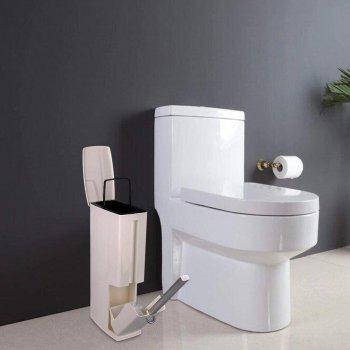 Компактне відро для сміття Supretto з туалетного щіткою - йоржиком для унітазу (5831)