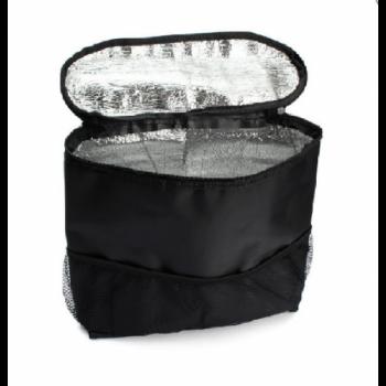 Компактна термосумка-органайзер для авто Supretto 24х20х8 см Чорний (4695)