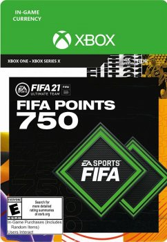 Поповнення рахунку ігри Xbox One FIFA 21 на 750 FUT очок (Xbox One)