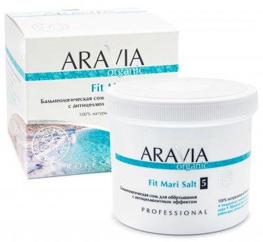 Бальнеологическая соль для обёртывания Aravia Organic Fit Mari Salt с антицеллюлитным эффектом 750 г (7040)