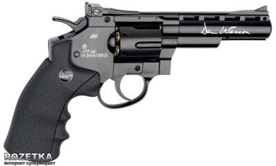 """Пневматичний пістолет ASG Dan Wesson 4"""" Black (23702523)"""