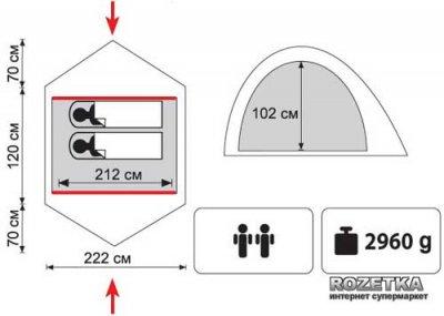 Палатка Tramp Colibri 2 (v2) (TRT-034)