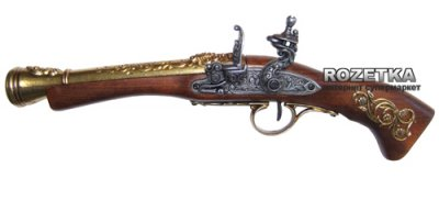 Макет пистолета Flintlock blunderbuss для левши, 18 век, Denix (01/1130L)