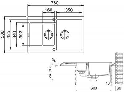 Кухонна мийка FRANKE MARIS MRG 651-78 (114.0381.010) бежевий