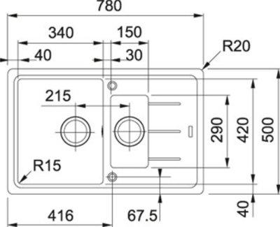 Кухонна мийка FRANKE BASIS BFG 651-78 (114.0272.634) сахара
